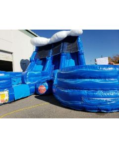 18' Dual Lane Wave Wet/Dry Slide - 18428