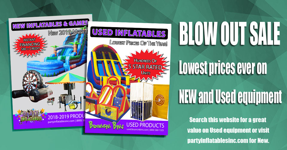 Blowout Discount Used Inflatables