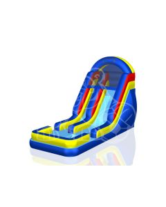 18' Mardi Gras Colored Wet/Dry Inflatable Slide | 1011