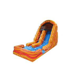 18' Yellow Marble Wet/Dry Inflatable Slide | 1072