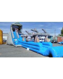 24' Log Mountain 4pc Wet/Dry slide - 2217