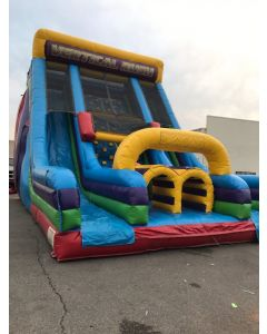 24' Vertical Rush Wet/Dry Slide with Slip n Dips - 17324