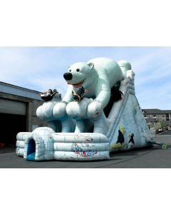 24' Polar Bear Dual Lane Dry Slide - 18368