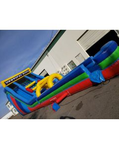 24' Vertical Rush Wet/Dry Slide with Slip n Dips - 18390