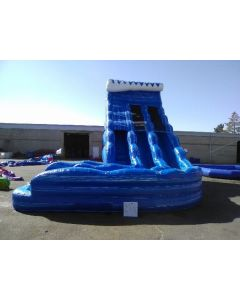 (A) 24ft Dual Lane Curve Wet/Dry slide