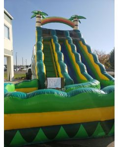 18' Tropical Dual Lane Wet Dry slide - 18421