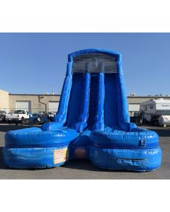 24' Dual Lane Wet/Dry slide - 18410