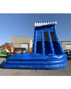 (A) 24ft Dual Lane Curve Wet/Dry slide - 18433
