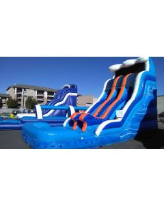 18' Raging River Dual Lane Wet/Dry Slide with Slip n Dips - 18397